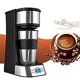 Caffettiera 1 tazze , Webat Caffettiera Elettrica 1 tazze Acciaio Inossidabile Programmabile con Timer per viaggio 420ML Macchina per caffe immagine