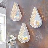 Pureday Wandkerzenhalter Ranja - Teelichthalter mit Spiegel - Orientalisch -