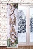 Schiebegardine Merry X-Mas 60x245cm Weihnachtsgardine Raumteiler Schaufensterdeko Weihnachten