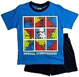 Star Wars Pyjama Ökotex Standard 100 Kollektion 2018 Shortie 104 110 116 122 128 134 140 146 Shorty Kurz Schlafanzug Stormtrooper (Hellblau-Blau, 140)