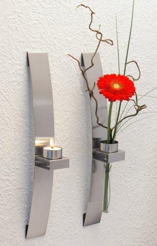 Chg 3342-00 lampada/fioriera a parete, set da 2 pz ca. 39,5 x 5,0 x 8,0 cm