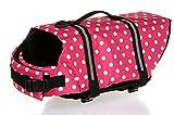 Cipway Hunde-Schwimmweste mit Reflektierenden Streifen für Hunde (XXS, Rosa Punkte)