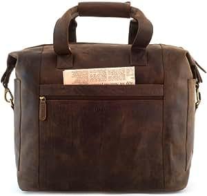 LEABAGS Santa Cruz Reisetasche aus echtem Büffel-Leder im Vintage Look – Muskat