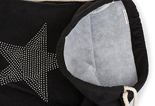 Stylebreaker borsa sportiva con applique di strass e stelle zaino