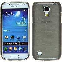 Funda de silicona para Samsung Galaxy S4 Mini - brushed plata - Cover PhoneNatic Cubierta + protector de pantalla