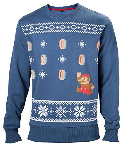 Import Europe - Jersey Navidad Mario, Color Azul, Talla L
