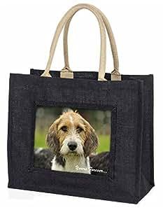 Advanta Welsh Fox Terrier dogyours Forever. Große Einkaufstasche/Weihnachtsgeschenk, Jute, schwarz, 42x 34,5x 2cm