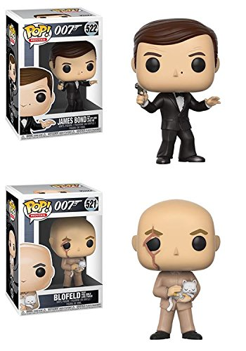 Funko POP 007 James Bond From The Spy Who Loved Me Blofeld From You Only Live Twice Stylized Movie Vinyl Figure Set NEW