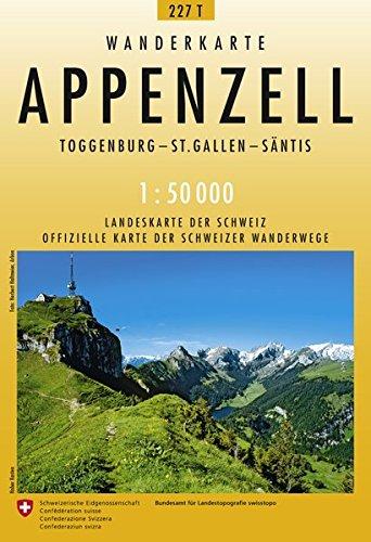 Preisvergleich Produktbild 227T Appenzell Wanderkarte: Toggenburg - St. Gallen - Säntis (Wanderkarten 1:50 000)