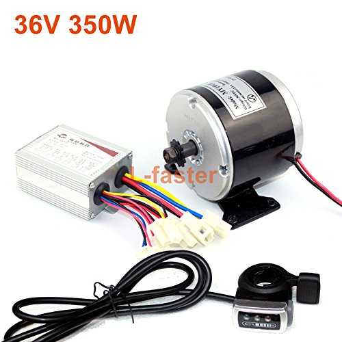 L-faster 24V 36V 350W elektrisches DC-Motor-elektrisches Skateboard DIY 350W Bewegungsausrüstung elektrisches Fahrrad-Motor-hohe Qualität Motor Verwendung 25H Ketten (36V350W Thumb kit)