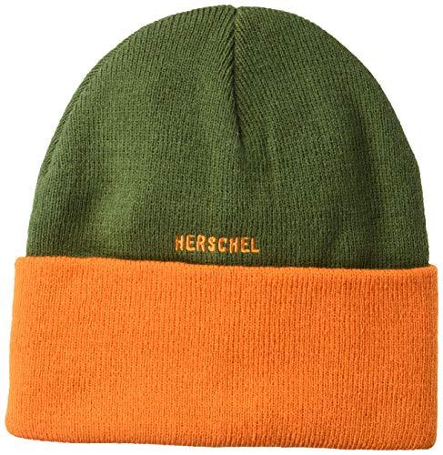 Herschel Supply Co. Rosewell Ivy Vert/Orange Beanie