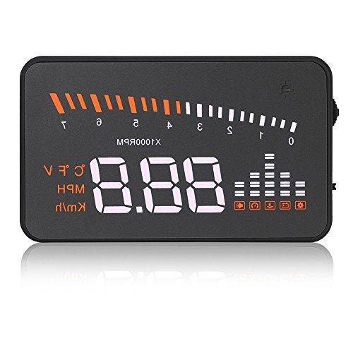 VGEBY Auto HUD Alarmsystem Universal 3 Zoll Heads-Up Display Mit LED Digtalanzeige OBDII Schnittstelle Geschwindigkeit Warnung Windschutzscheibe Projektors System