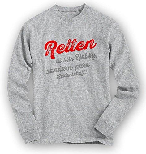 Reiten Sweatshirt | Reit-Pullover | Pferd | Auf dem Rücken unserer Pferde | Unisex | Sweatshirts Graumeliert