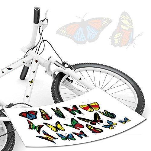 Schmetterling Aufkleber für das Fahrrad / Kinderrad als Set von style4Bike.de