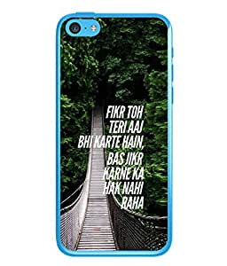 PrintVisa Designer Back Case Cover for Apple iPhone 5C (bright bridge with emotional quotes)