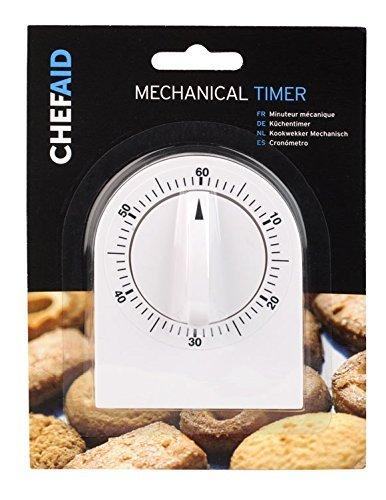 OLPro - Timer meccanico da cucina, colore: Bianco