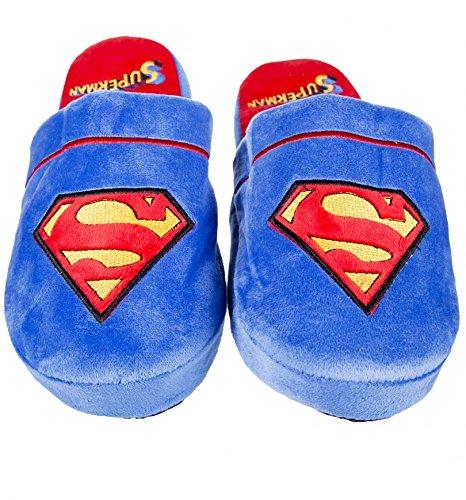 Ufficiale di Superman DC Comics morbido scivolare su pantofole Blue - Red
