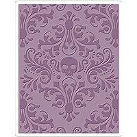 Sizzix Texture Fades Troquelado Folder-Skull Damasco por Tim Holtz,, 17,5x 12,4x 0,5cm