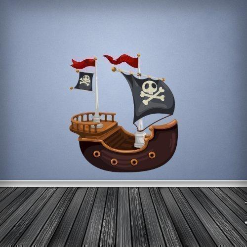 Volle Farbe Piratenschiff Jungen Schlafzimmer Kinderzimmer Wandsticker Aufkleber Kinder Schlafzimmer Dekor - Large