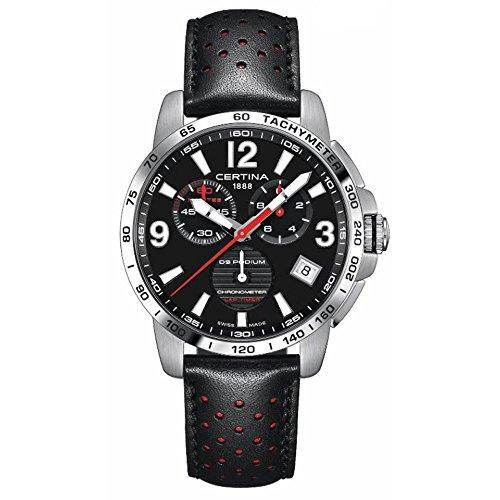 Certina Men's DS Podium 42mm Leather Band Quartz Watch C034.453.16.057.00
