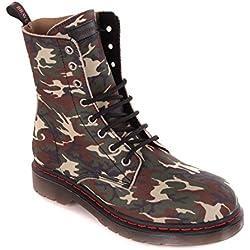 DIESEL mujer botas botas camuflaje #15 - Camuflaje, 38 EU