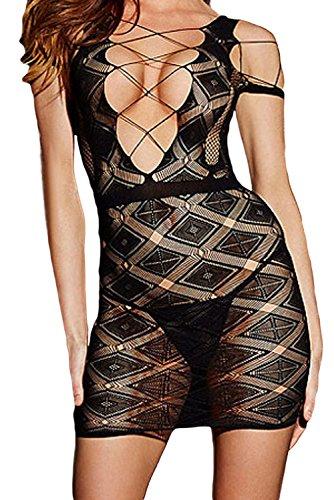 E-Girl Deman Schwarz SY21522 Cocktail Kleid Schwarz