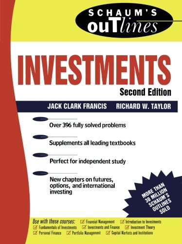 Schaum's Outline of Investments (Schaum's Outlines) - Schaum-anlagen