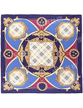 Gexing Bufanda Seda Pura Estilo étnico Vestido Corbata Bufanda