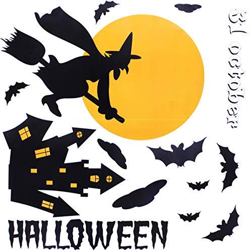 Halloween-Fenster klammert sich - glückliches Halloween-Hexe-Geisterhaus-Schläger-Fenster-Abziehbild-Partei-Dekorationen
