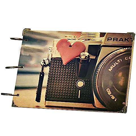 Foto Album 10-Zoll-DIY Paste Style Retro Seite Turntable Album Kreative Geschenk Liebe Kamera 26.8X18.7CM1PCS