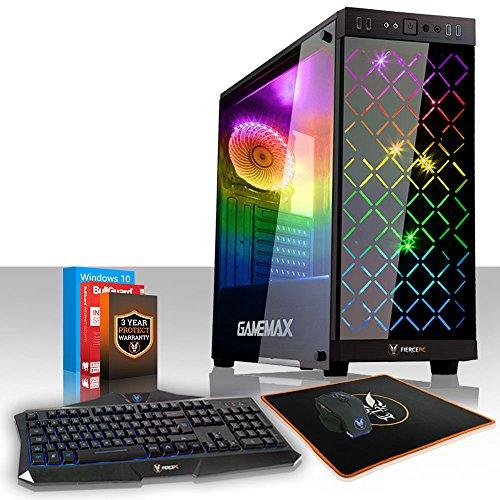 Fierce Marksman High-End RGB Gaming PC Bundeln - Schnell 4.6GHz Hex-Core Intel Core i5 8600K, 1TB HDD, 8GB 2666MHz, NVIDIA GeForce RTX 2080 8GB, Windows 10, Tastatur Maus (VK/QWERTY) 939482