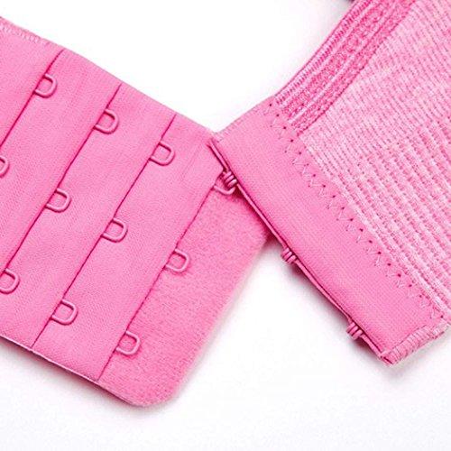 ZEARO Neue Nahtlose Pflege Mutterschaft BH Breastfeeding abnehmbare Pads Rosa