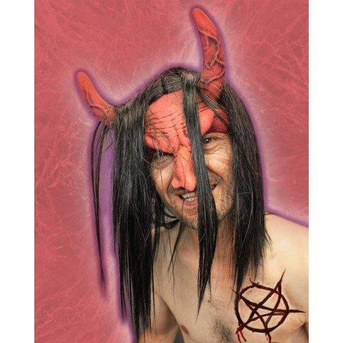 Mask Head Piece Devil Red