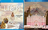 Embark on the adventure of The Grand Budapest Hotel Wes Anderson & The Life of Pi Ang Lee 2 Blu Ray Set Films Double Feature Movie pack
