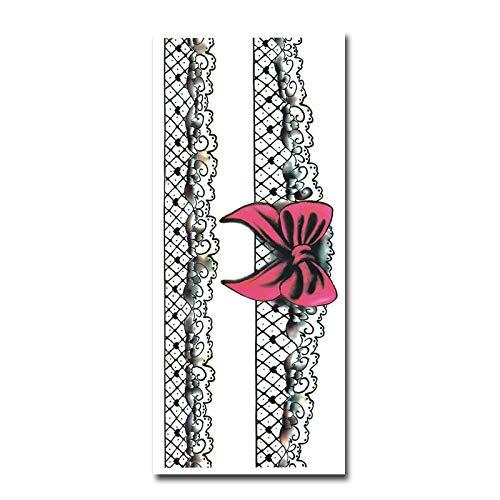 7Pcs-handbemalte Tattoo Aufkleber Perle Kette Spitze Bogen frisch und schön Arm Oberschenkel wasserdicht Tattoo Aufkleber YF-L5 15 & Times; 21cm - Handbemalte Mini-lampe