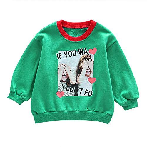 4ad7a8e6ba379 BaZhaHei Sweat-Shirt Enfants Fille Col Rond Hiver Casual Lettre Imprimée  Rayure T-Shirt