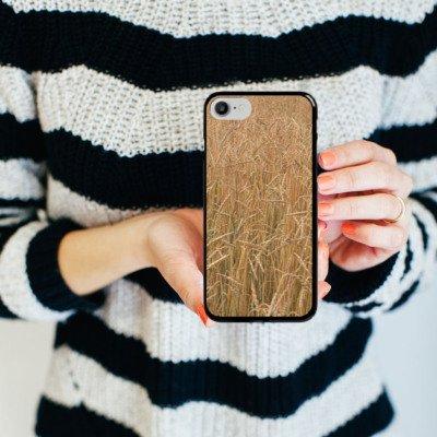 Apple iPhone X Silikon Hülle Case Schutzhülle Kornfeld Landschaft Feld Hard Case schwarz