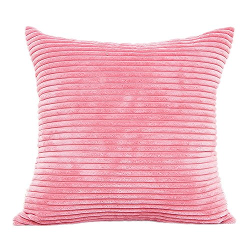 LuckyGirls Plüsch Kissenhülle Sofa Kissenbezug Größen 45 x 45 cm, Pillowcase Home Decor (Pink)