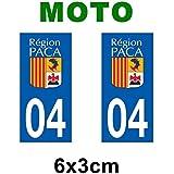 Autocollant plaque immatriculation pour moto PACA département - Provence Alpes Côte d'Azur / 83 Var