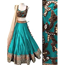 Vaankosh Fashion Women's Cotton Lehenga Choli (vaank1.0_blue)