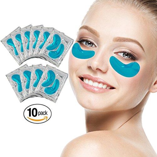 10 Paare Blaue Algen Kollagen Gel Kristall Augen Falten Masken Krähenfüße Straffend