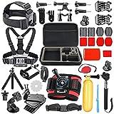 HAPY Accessories Kit gopro - Kamera die Aktion 4/5 / 6. Held, 1/2 / 3 + 3/4 / 5, sj4000 / 5000, Sony im Rudern, Schwimmen, Camping und Mehr DV - Mountain - Bike