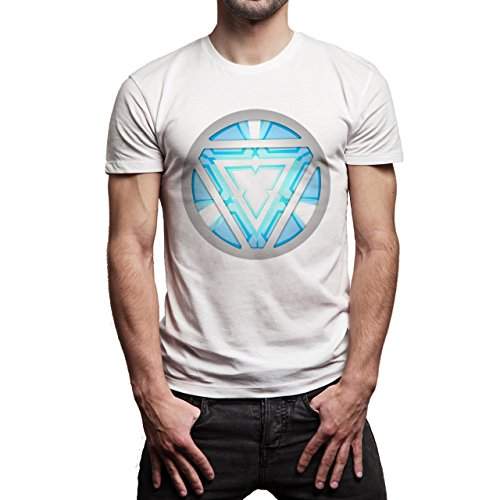 Iron Man Machine Reactor Herren T-Shirt Weiß