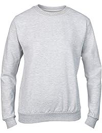 Anvil Women's Sweatshirt Locker Patch Rolled Forward Shoulder Contoured Missy Fit