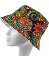 Fashionable Unisex Satin Lined Printed Pattern Cotton Bucket Hat