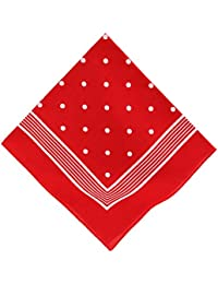 Betz Nickituch Bandana Kopftuch Halstuch klassischem Punktemuster Größe 55 x 55cm 100% Baumwolle Farben rot, marine und schwarzblau