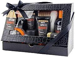 Idea Regalo - BRUBAKER Cosmetics set bagno e doccia 'Spa Sport Musc' per uomini con panno in confezione regalo - 8 pezzi