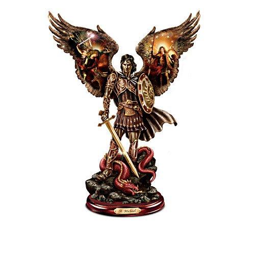 'Michael: erfolgreichen Warrior'Cold Cast Bronze-Skulptur The Bradford Exchange -