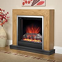 Be Modern Devonshire Electric Fireplace Suite in Natural Oak Finish