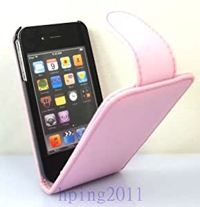 Ace Quality Apple iPhone 5 5S Light Pink Flip PU Leather Case Cover For Apple iPhone 5 5S